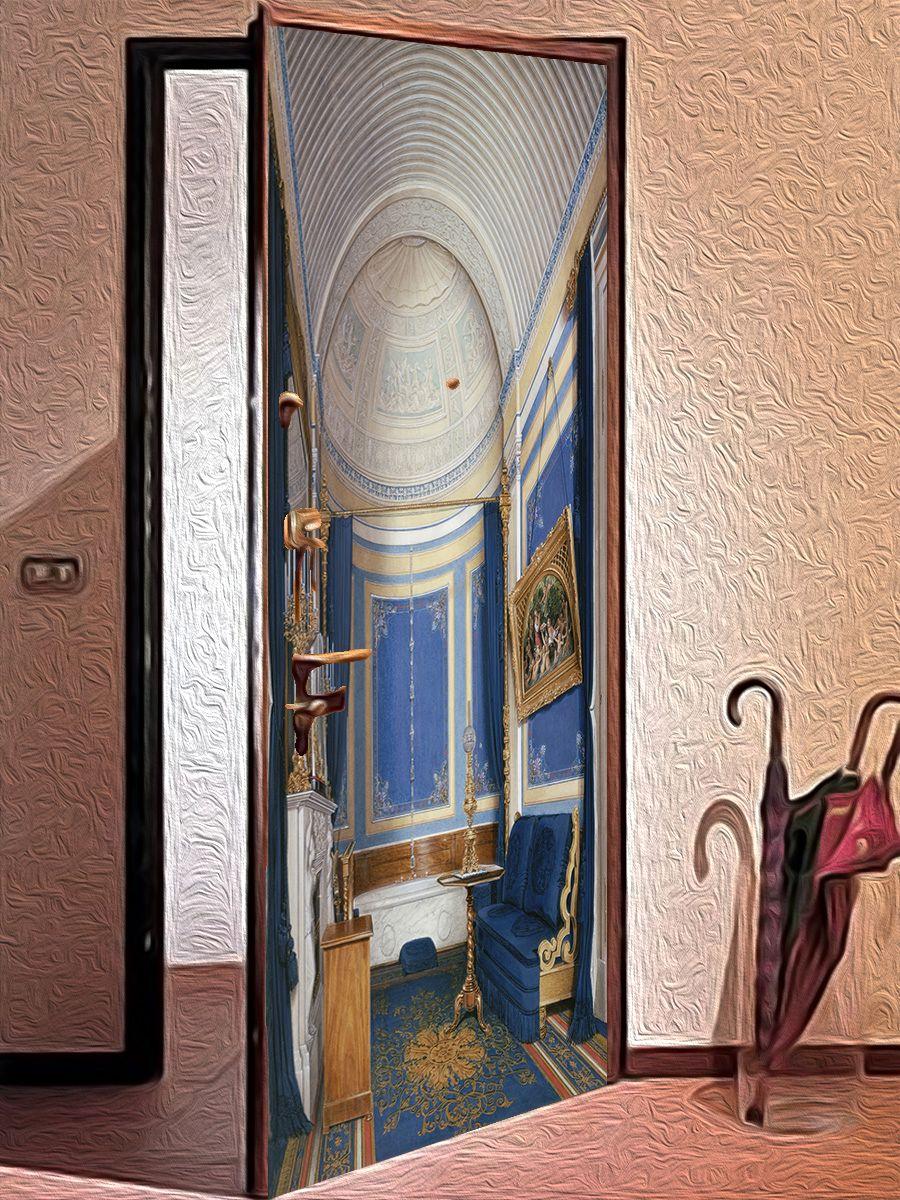 наклейка на дверь - Шедевры Эрмитажа 2