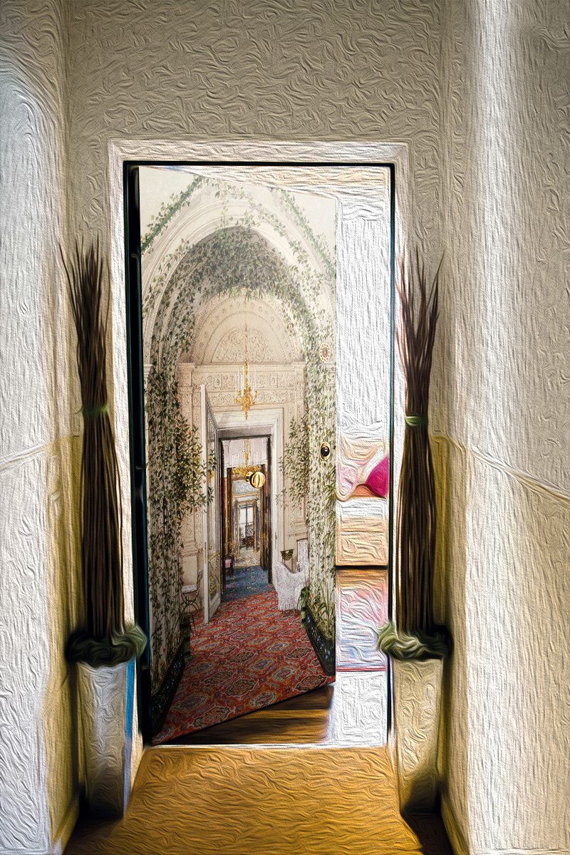 Наклейка на дверь - Шедевры Эрмитажа 3 | магазин Интерьерные наклейки
