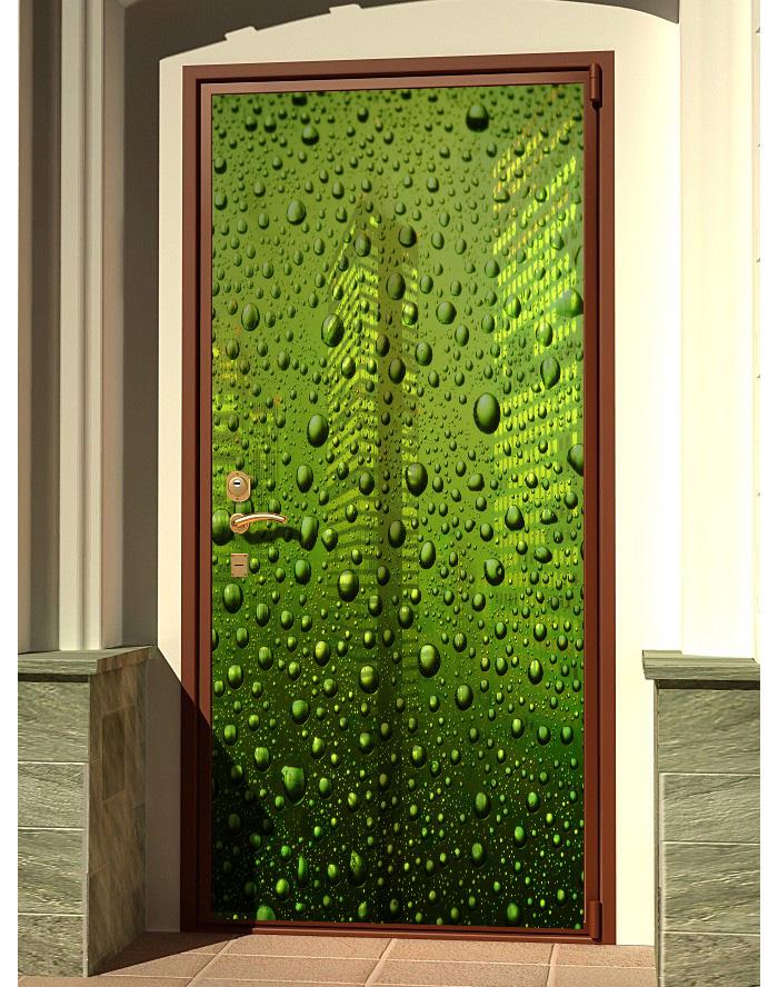 Наклейка на дверь -  Капли