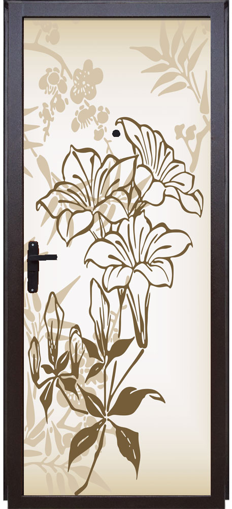 Наклейка на дверь - Луговые цветы