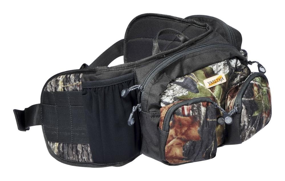 Поясная сумка оснащена карманами. карманов.  600D полиэстер.  Материал. или лесных. оснащен.  Камуфляж.